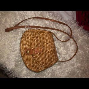 Anthropologie Rattan shoulder bag